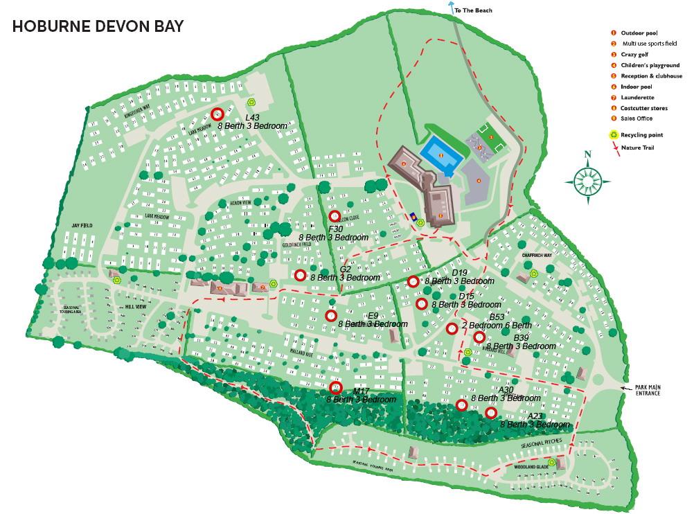 Hoburne Devon Bay Caravan 1 - 35 X 12 - 3 Bedroom 8 Berth